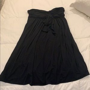 Express black strapless mini dress